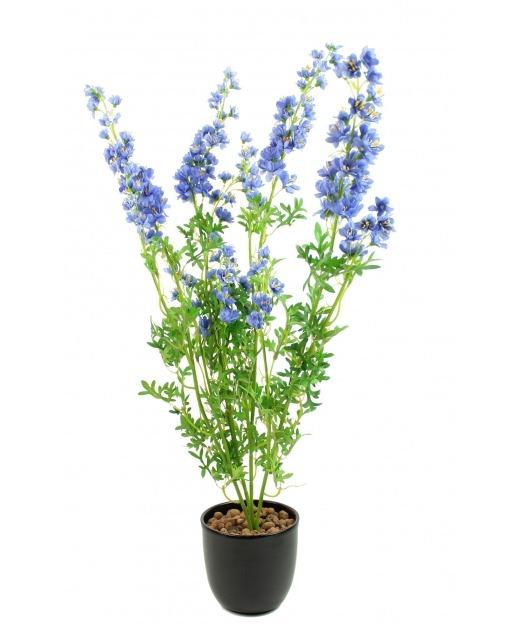 Delphinium artificiel bleu 70 cm