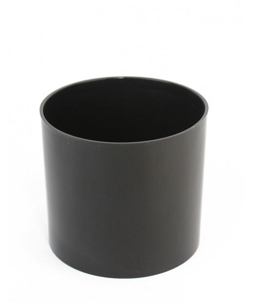 Pot cylindrique noir