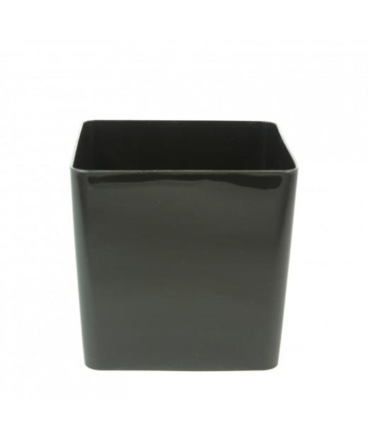 Cache-pot noir cubo