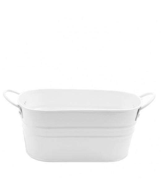 Jardinière en zinc blanc 9 cm