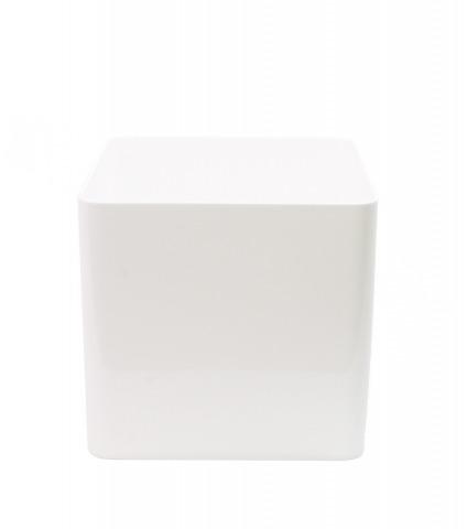 Pot cubique blanc