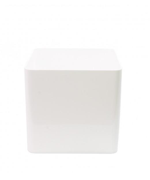 Pot cubique blanc 30 cm