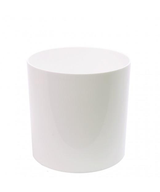 Pot cylindrique blanc 30 cm