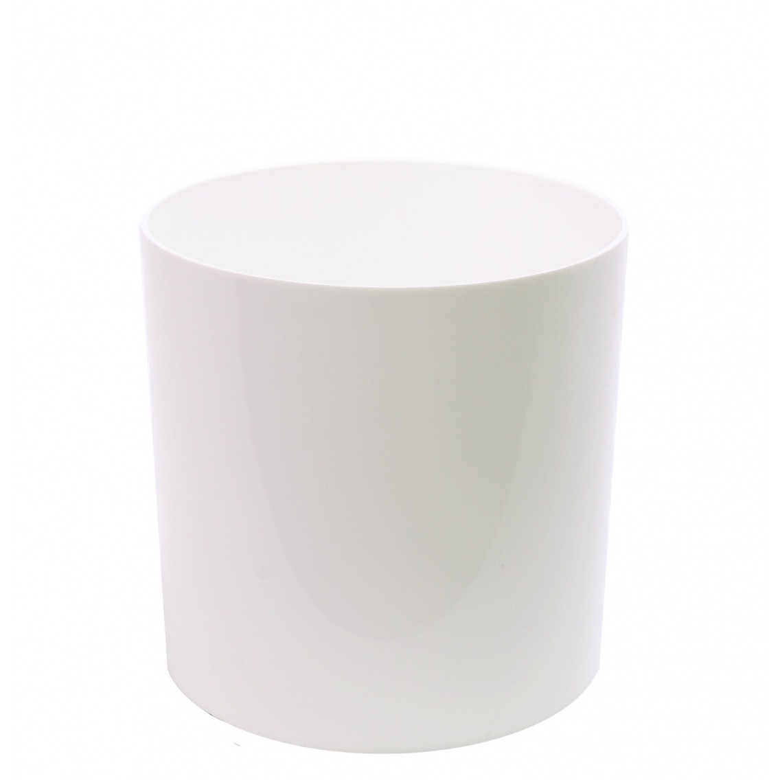 Pot cylindrique blanc