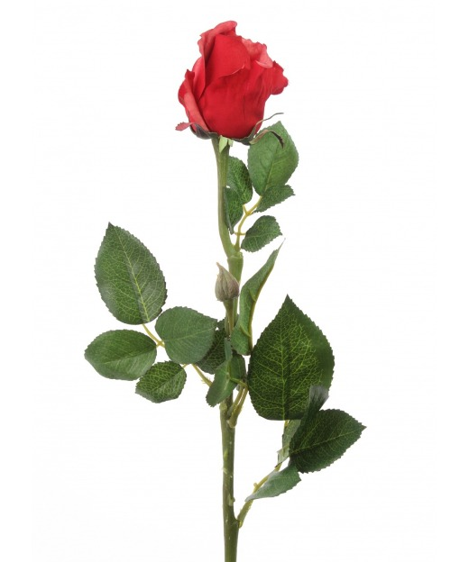 Rose rouge artificielle bouton 68 cm
