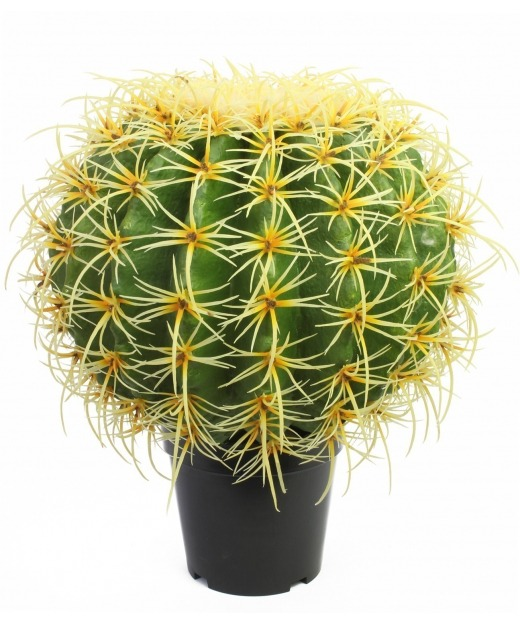 Cactus artificiel baril d'or 74 cm