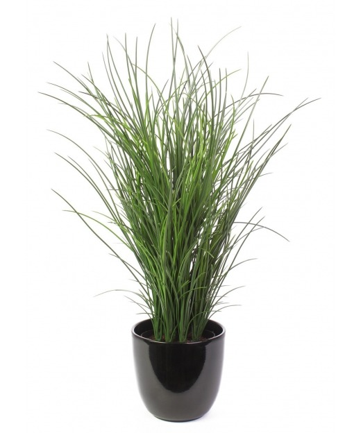 Grande herbe artificielle en pot 60 cm