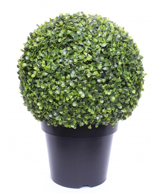 Buis artificiel boule pot 45 cm
