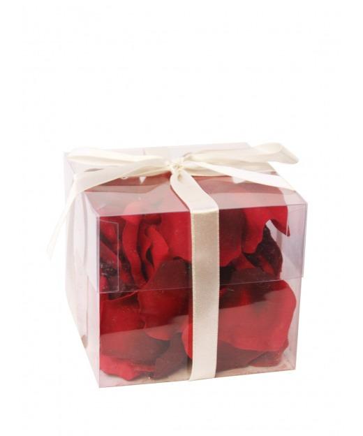Pétales de roses rouges 65 cm