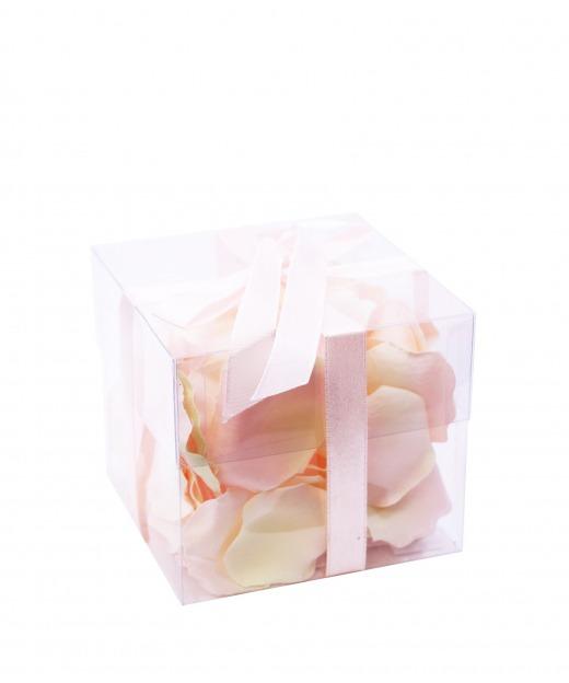 Boîte de pétales de roses 70 cm