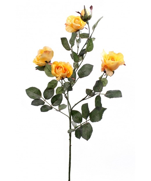 Rameau de roses jaunes 80 cm