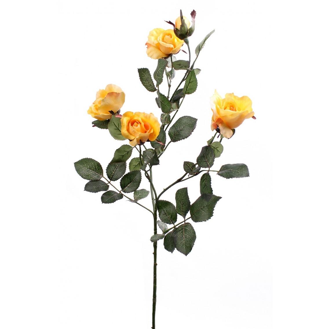 Rameau de roses jaunes artificielles