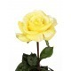 Rose artificielle jaune clair