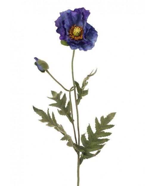 Coquelicot artificiel bleu 69 cm