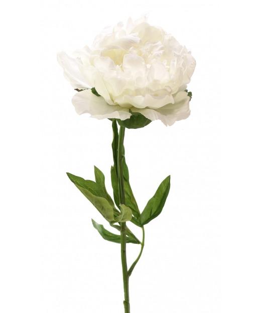 Pivoine artificielle blanche 70 cm