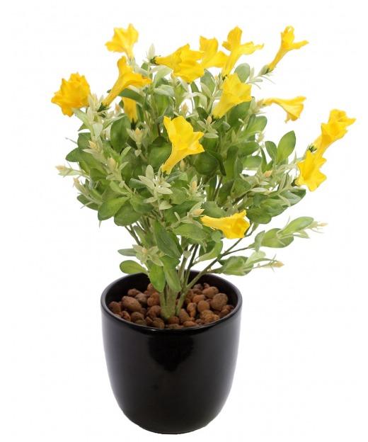 Pétunia artificiel jaune 41 cm