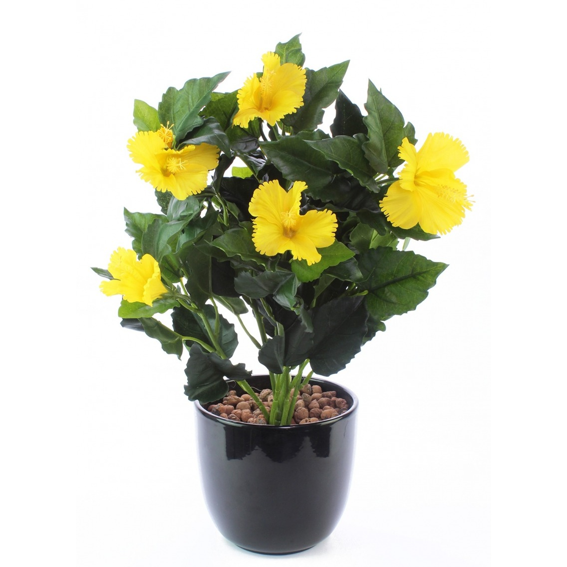 Hibiscus artificiel jaune