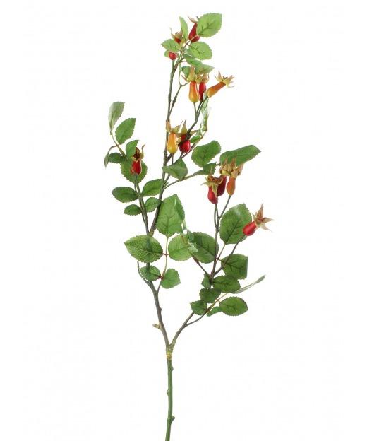 Branche d'églantier fleuri 80 cm