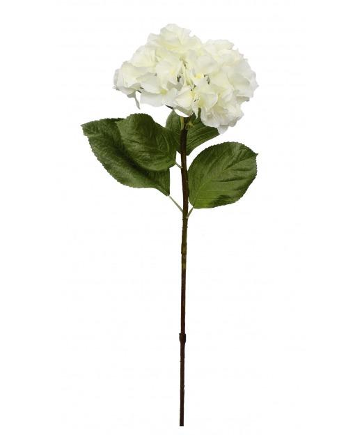 Tige d'hortensia artificielle blanche