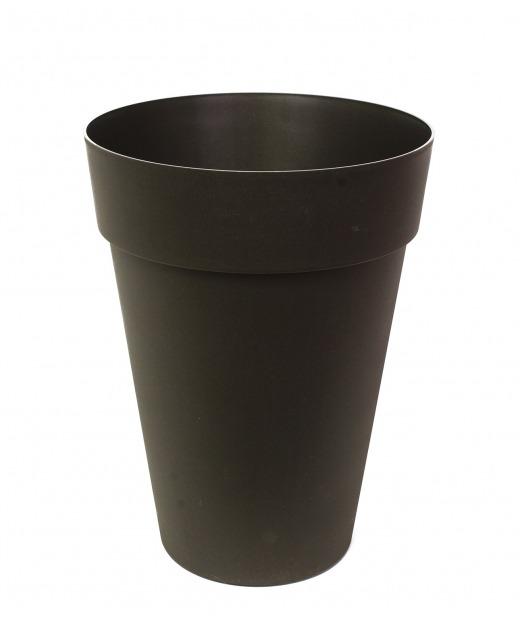 Pot rond haut anthracite