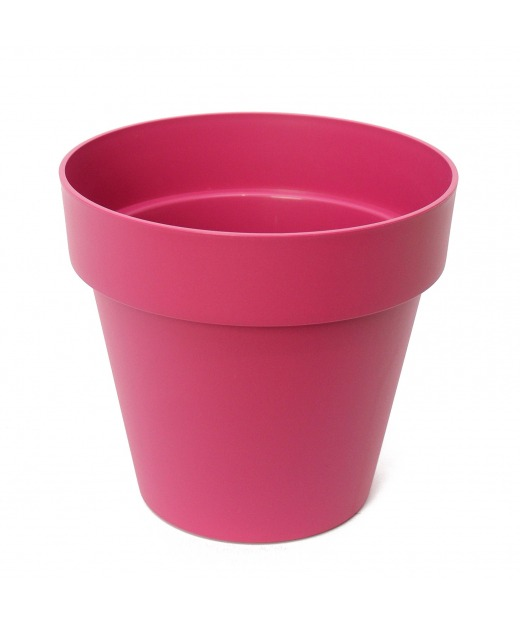Pot rond rose fuchsia
