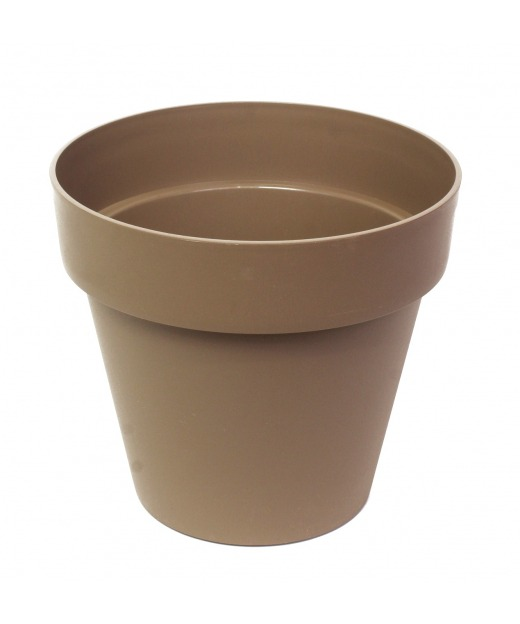 Pot rond taupe
