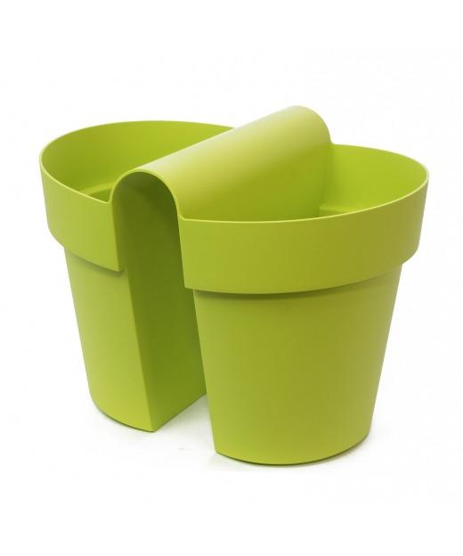 Pot balustrade double vert anis