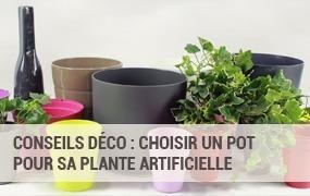 Pots et vases pour plantes artificielles