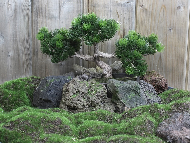 Penjing bonsai artificiel campagne