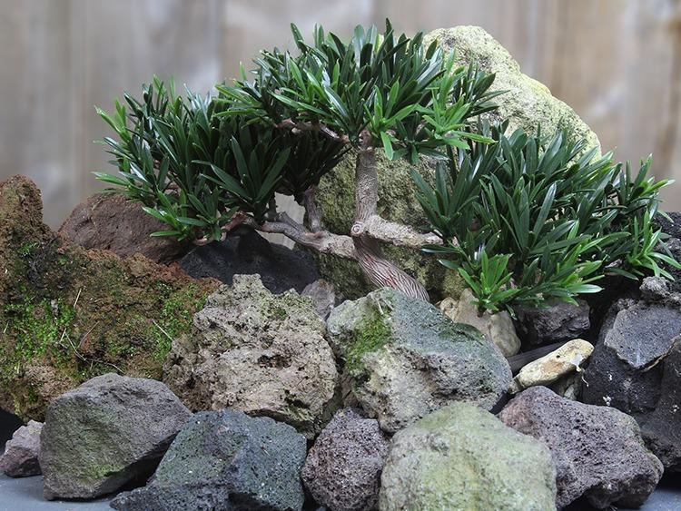 Penjing bonsai artificiel montagne