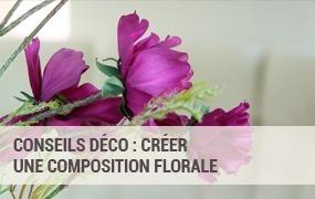 Réaliser une composition florale artificielle